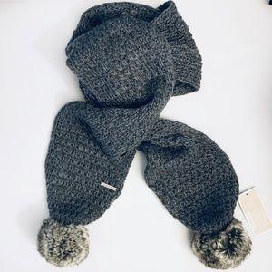 Michael Kors Pom Pom Knit Scarf